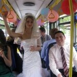 У бобруйчан новая мода: свадьба в троллейбусе